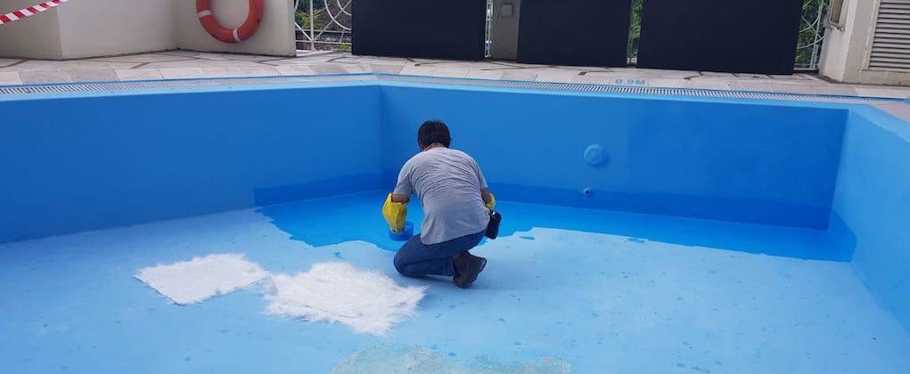 Skypeak swimming pool construction and renovation Singapore