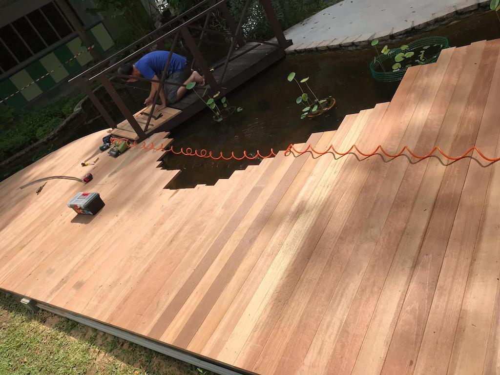 Swimming pool decking repair Singapore